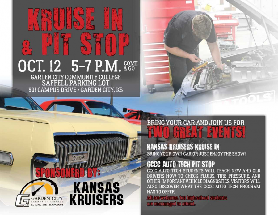 "Garden City Community College Partnering with Kansas Kruisers for ""Kruise In & Pit Stop"
